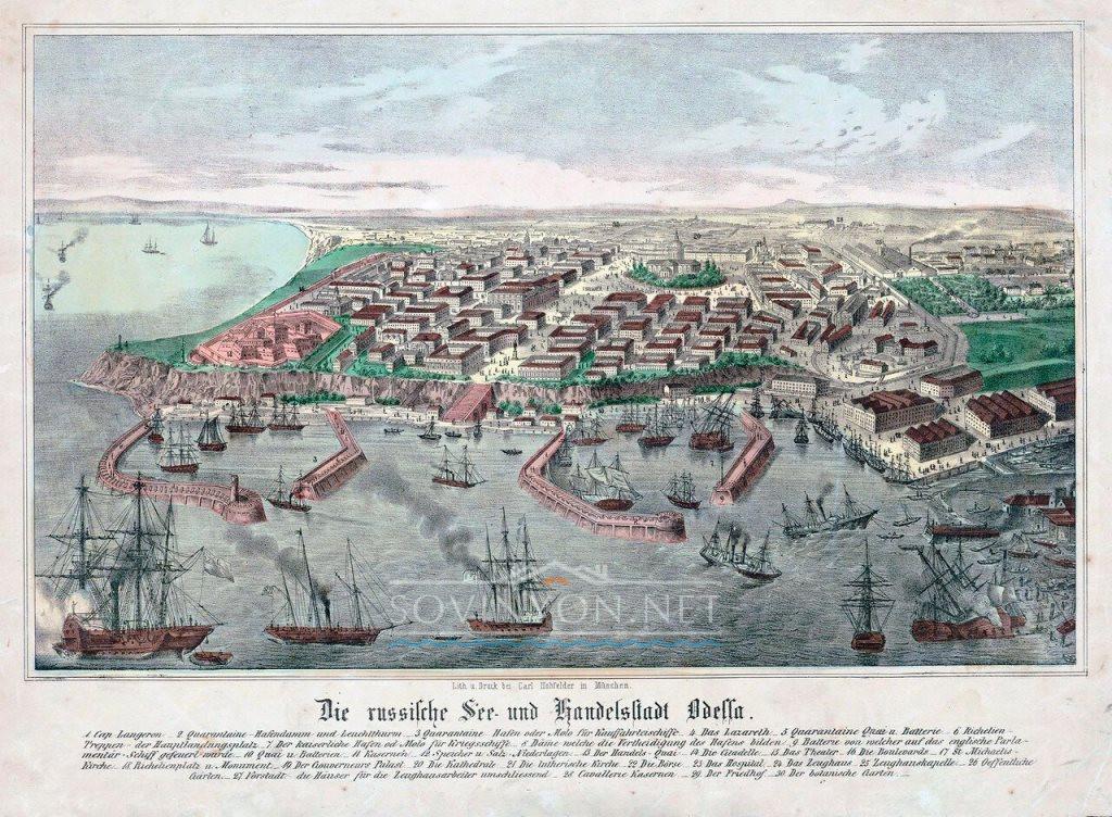 Карта Одессы фото