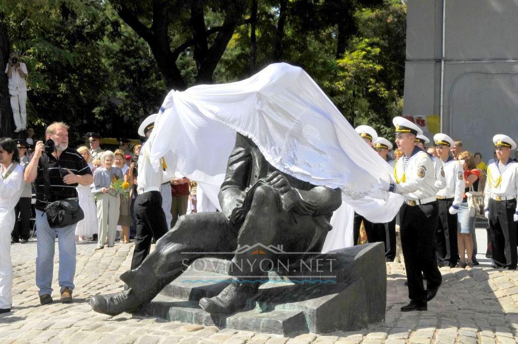 открытие памятника Бабелю в Одессе