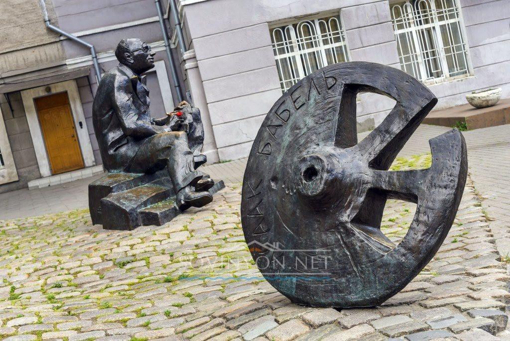 памятник Бабелю Одесса фото