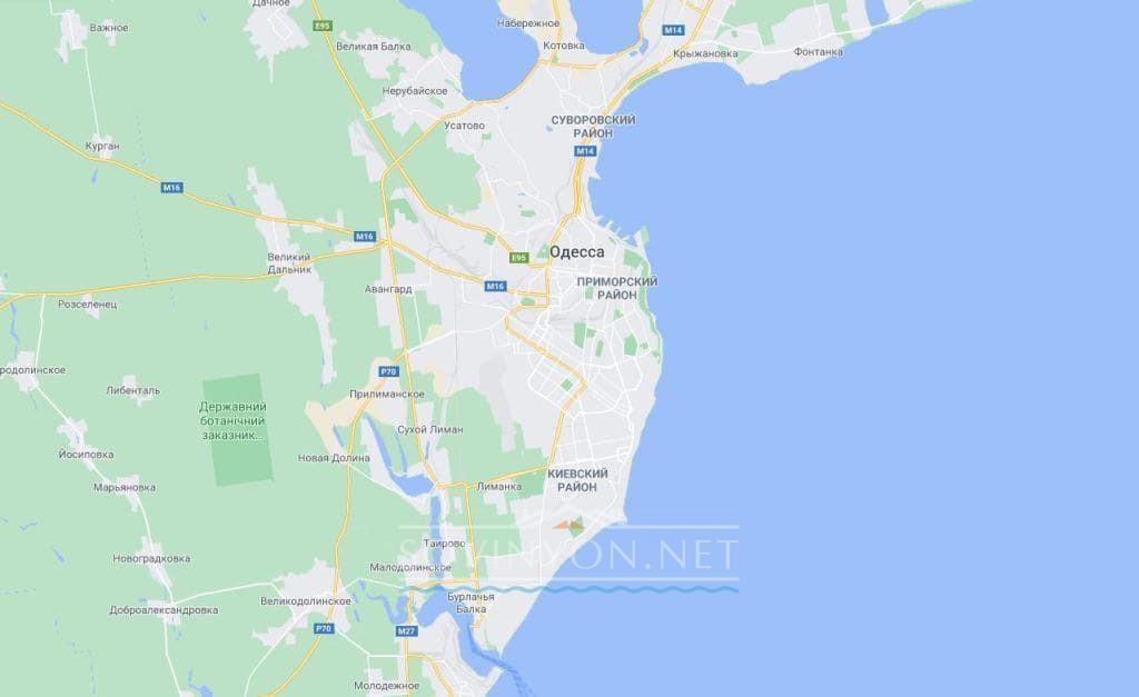 карта Одессы для туриста
